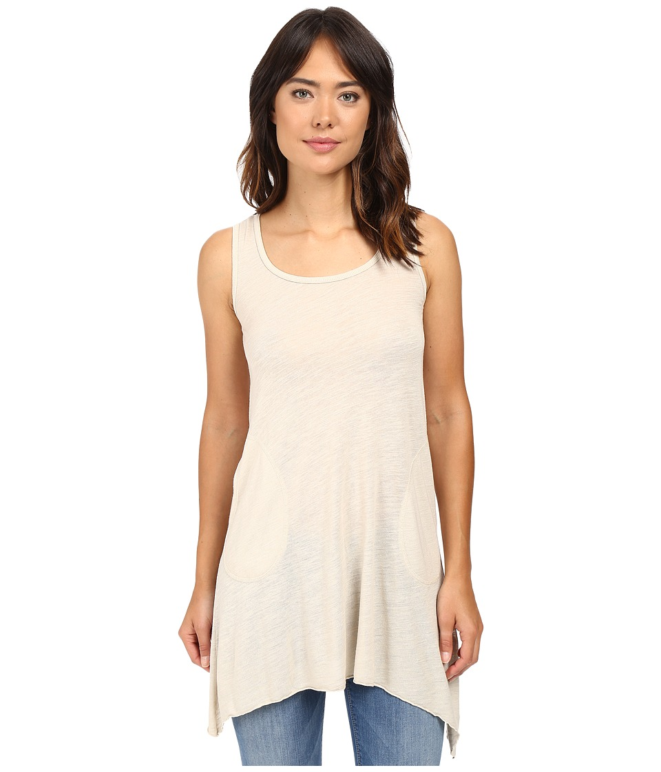Allen Allen - Angled Two-Pocket Tunic Tank (Sandbox) Women's Sleeveless