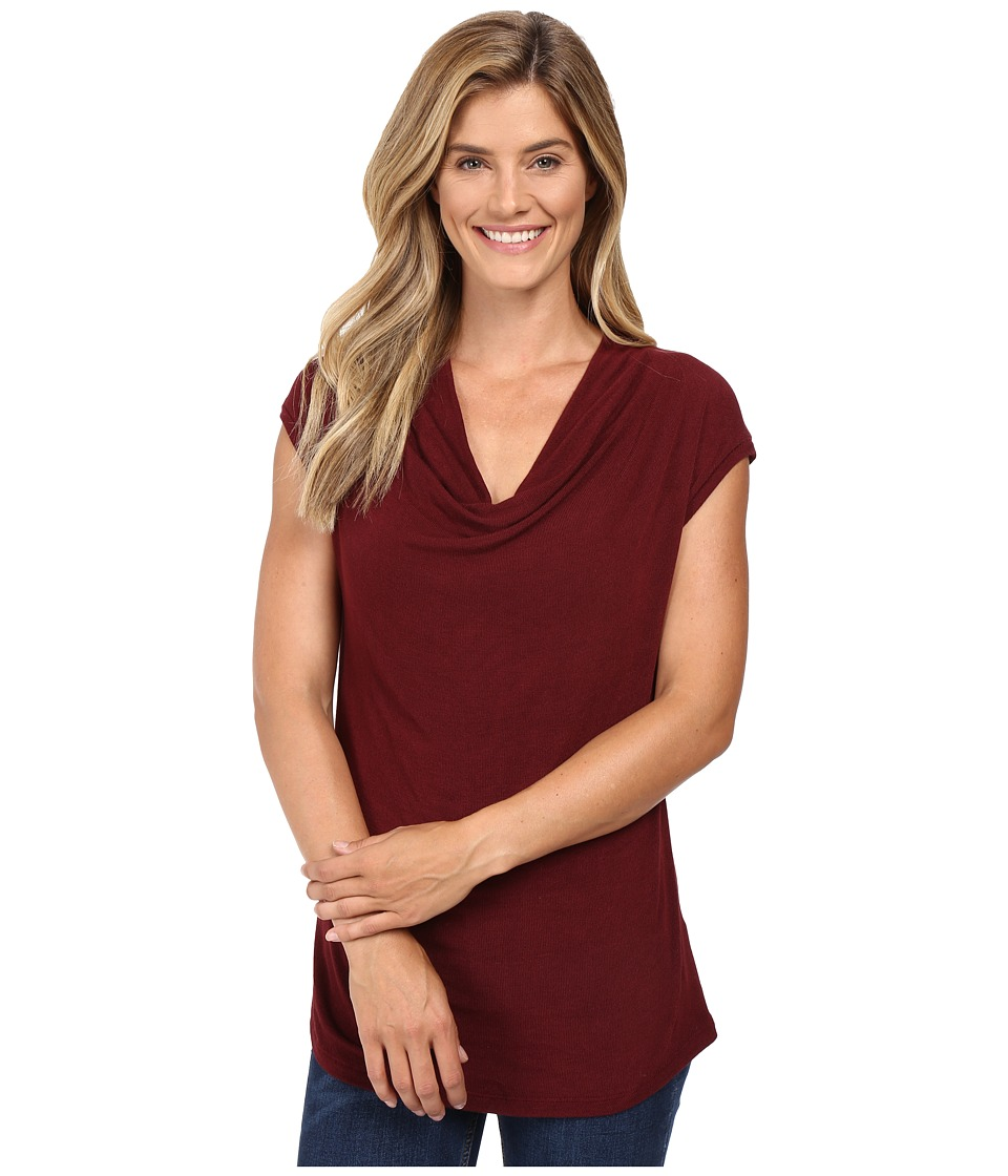 B Collection by Bobeau - Sharon Cowl Neck Knit (Wine) Women's Clothing