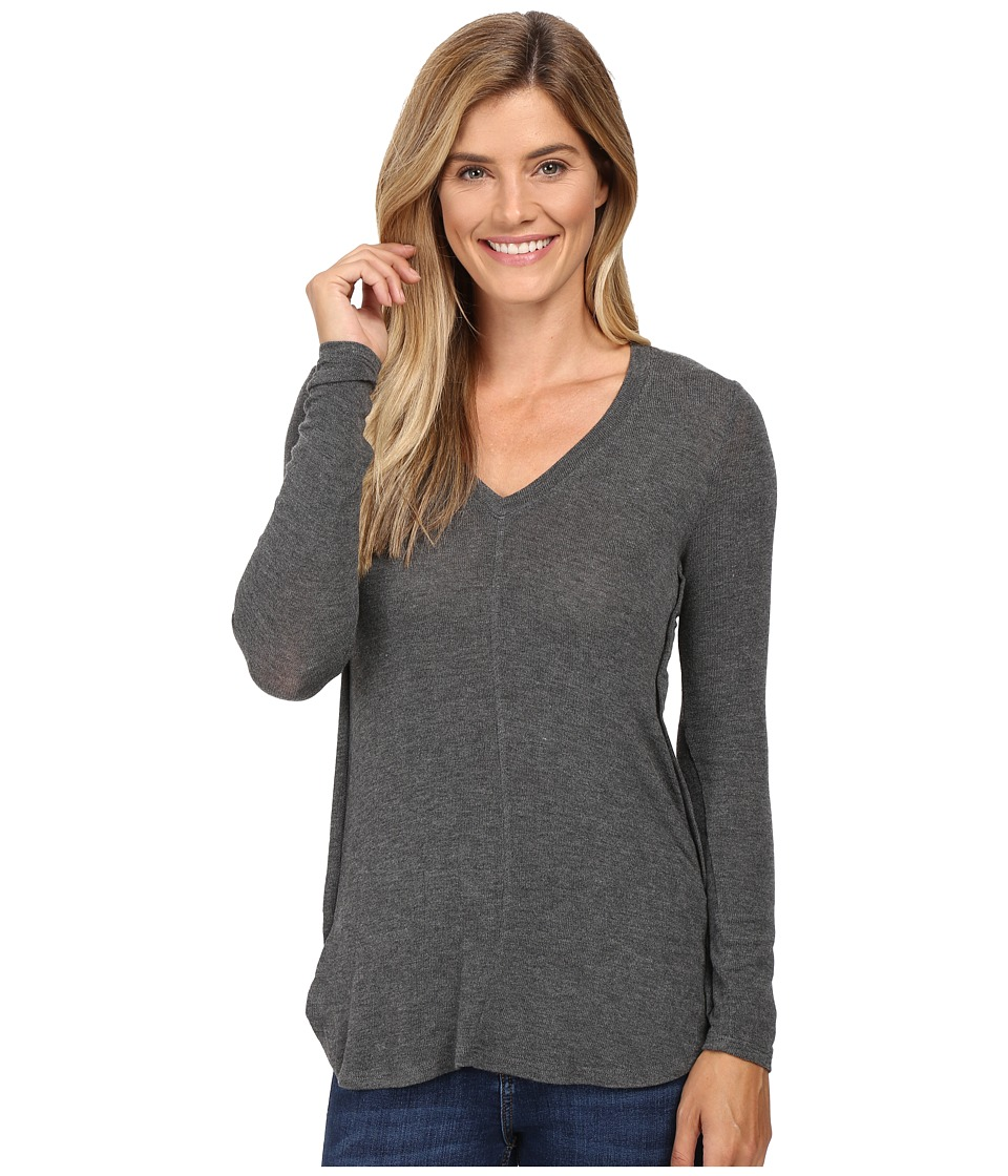 B Collection by Bobeau - Alice Long Sleeve Tee (Charcoal Grey) Women's T Shirt