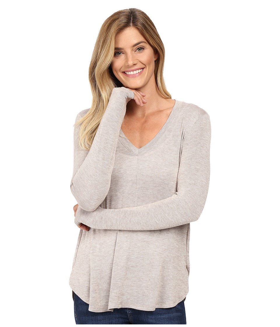 B Collection by Bobeau - Alice Long Sleeve Tee (Taupe) Women's T Shirt