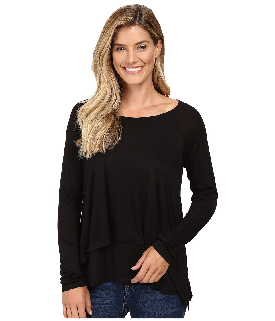B Collection by Bobeau - Ada Layered Knit Top (Black) Women's Long Sleeve Pullover