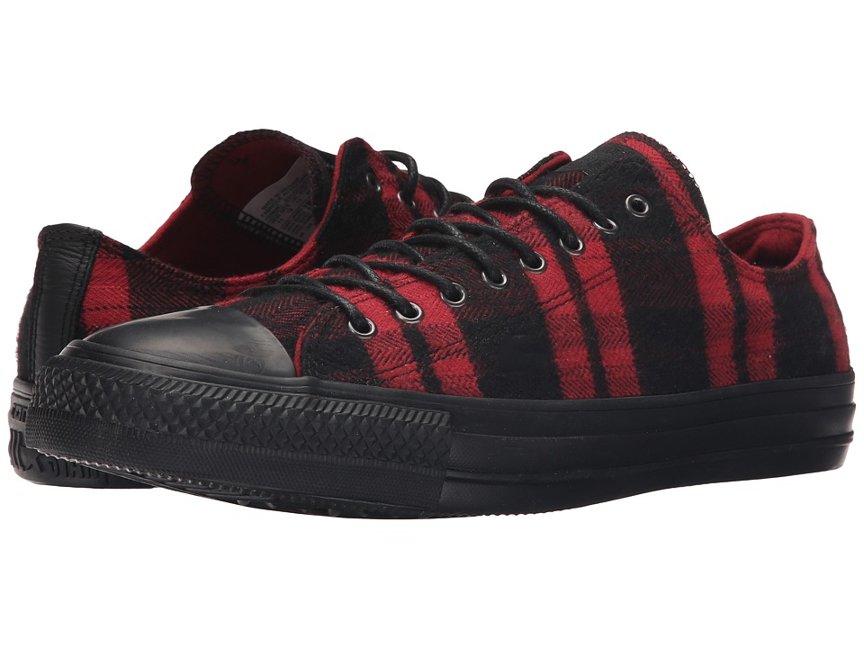 Converse - Chuck Taylor All Star Plaid Ox (Chili/Black/Black) Classic Shoes
