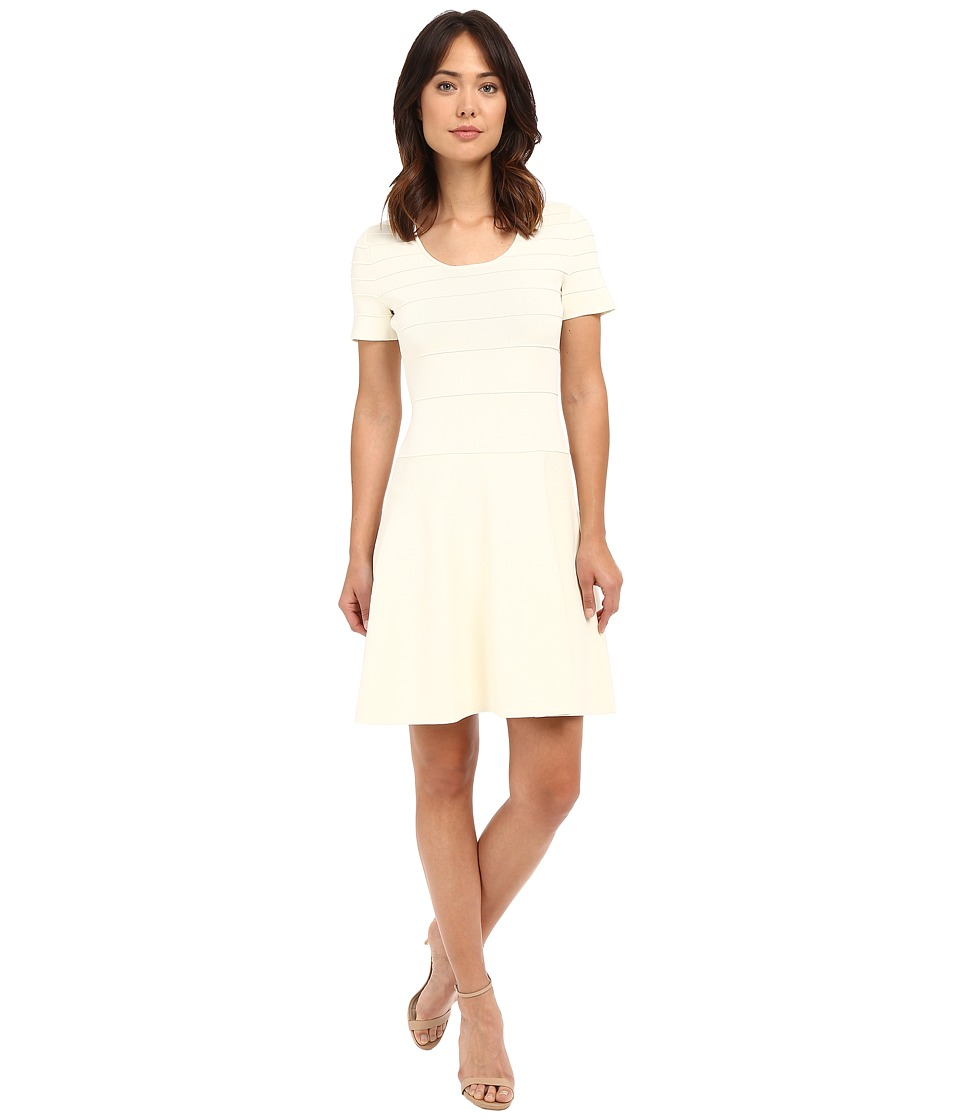 Ellen Tracy - Gradated Ottoman Dress (Magnolia) Women's Dress