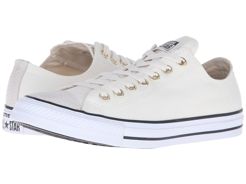Converse - Chuck Taylor All Star Toe Cap Ox (Parchment/Black/White) Classic Shoes
