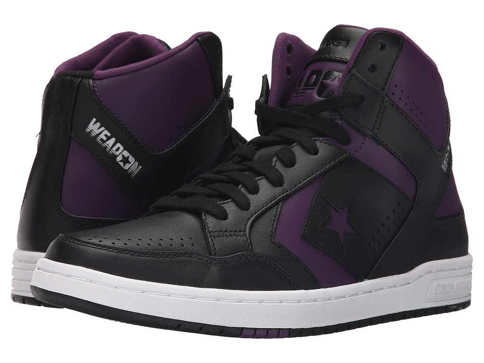 Converse - Weapon Mid (Black/Purple) Shoes