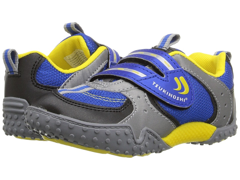 Tsukihoshi Kids - Wheel (Toddler/Little Kid) (Royal/Steel) Boys Shoes