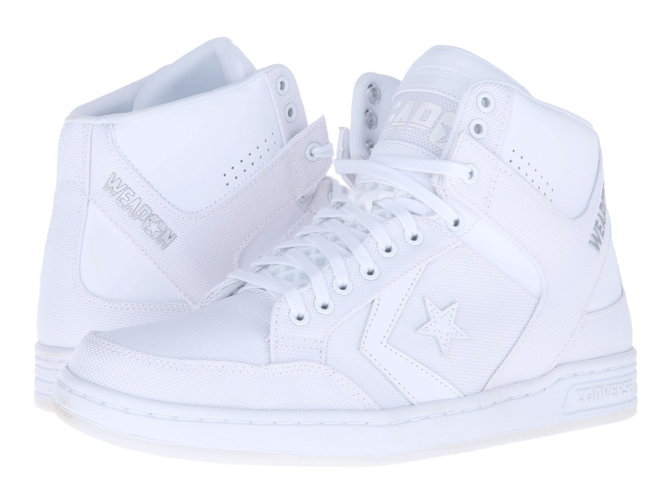 Converse - Weapon Mid (White/White/White) Shoes