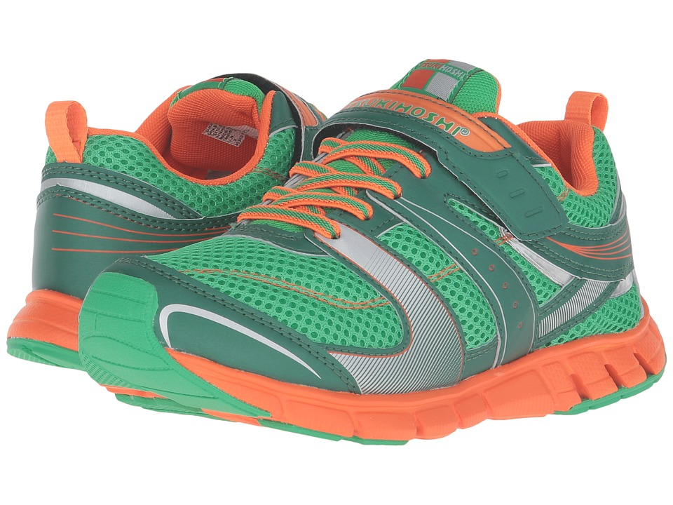 Tsukihoshi Kids - Velocity (Toddler/Little Kid) (Green/Orange) Boys Shoes