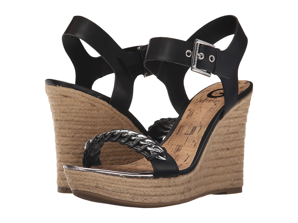 G by GUESS - Elliot (Black Burnished Calf PU) Women