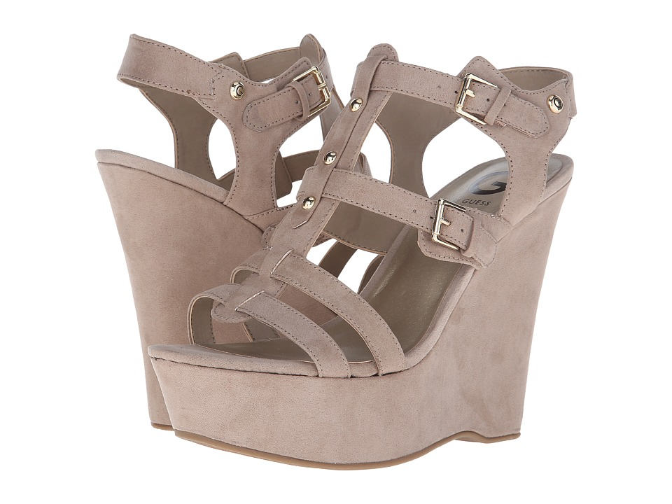 G by GUESS - Hippo (Sandy Camoscio Suede) Women's Wedge Shoes
