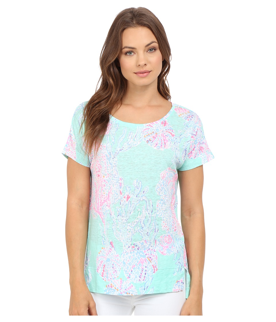Lilly Pulitzer - Mikela Top (Minty Fresh Fansea) Women's Clothing