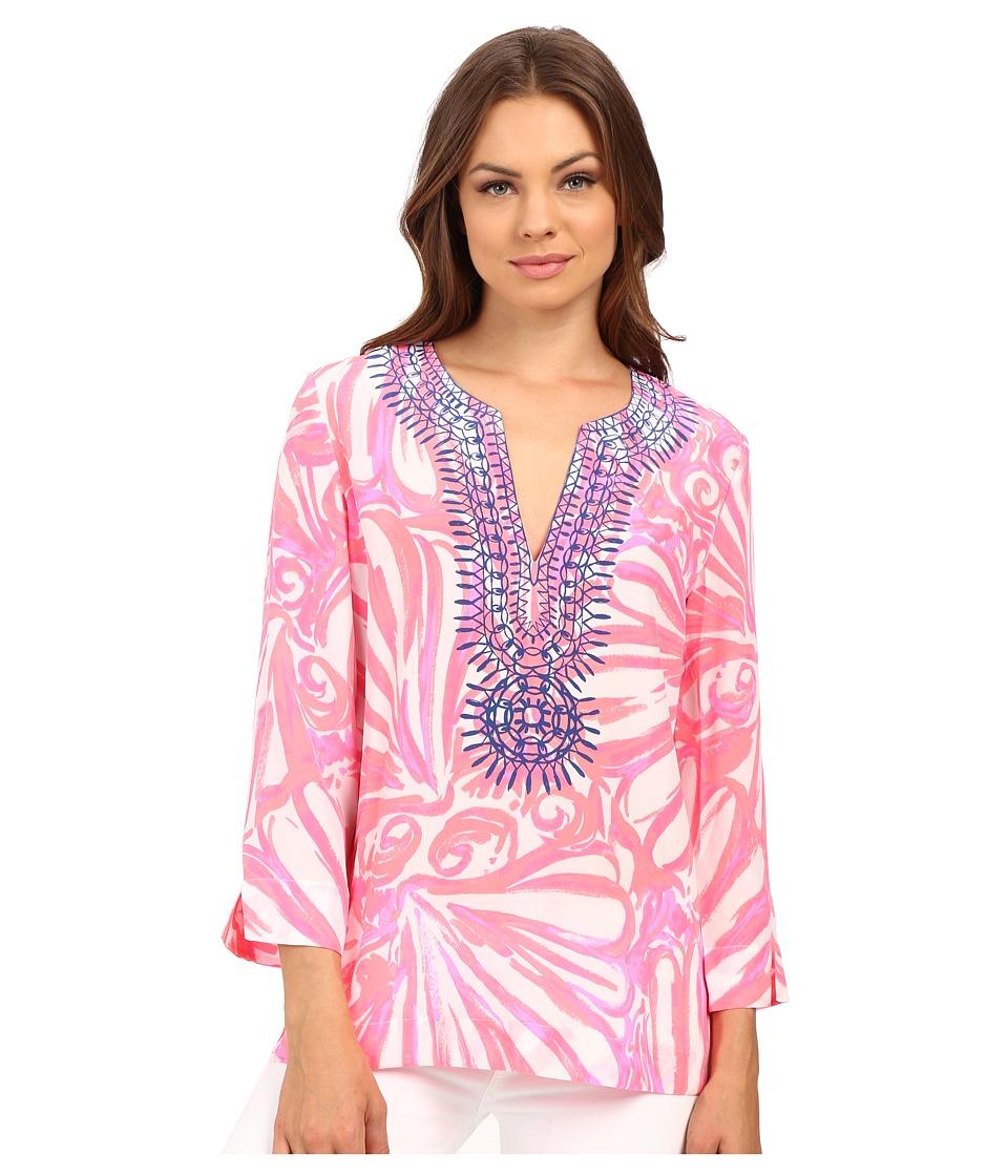 Lilly Pulitzer - Amelia Island Tunic (Pink Sun Ray Shimmy Shimmy) Women's Blouse