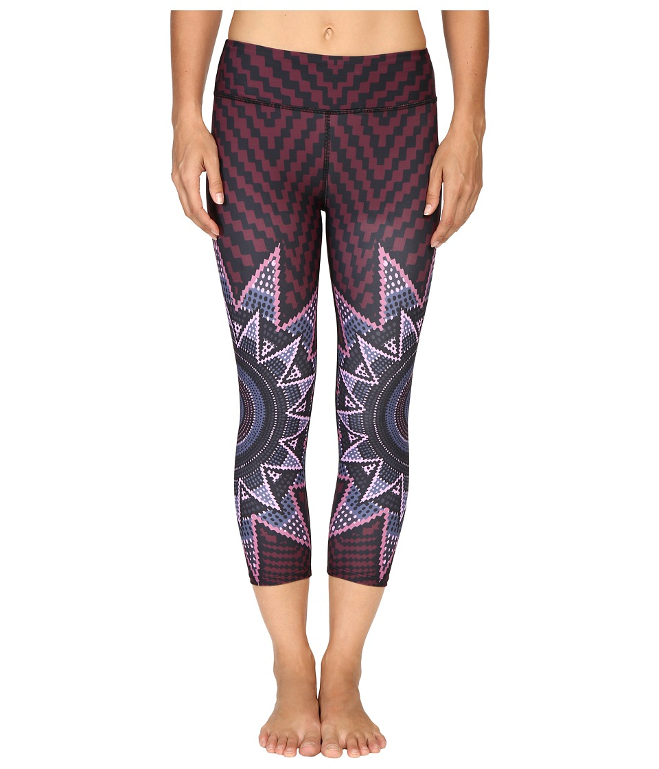 Mara Hoffman - Starbasket Cropped Leggings (Burgundy) Women's Casual Pants