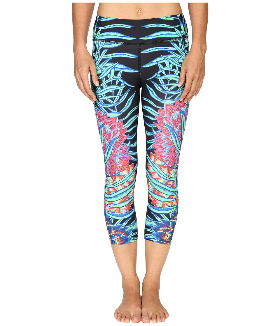 Mara Hoffman - Floral Cropped Leggings (Black Multi) Women's Casual Pants