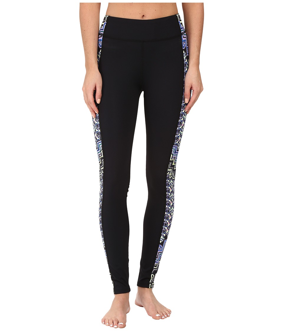 Mara Hoffman Rugs Combo Panel Leggings (Purple Multi) Women's Casual Pants