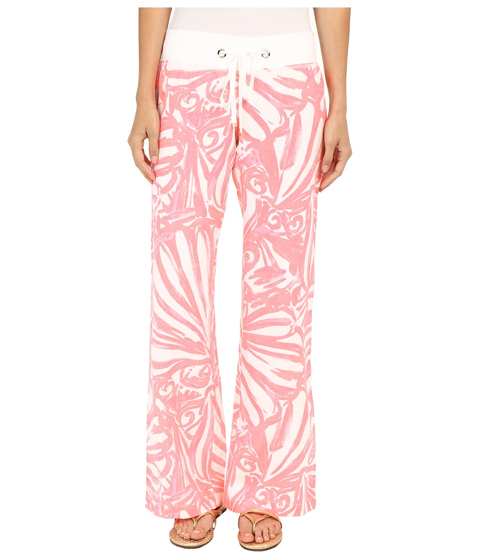 Lilly Pulitzer - Beach Pants (Pink Sun Ray Shimmy Shimmy) Women's Casual Pants