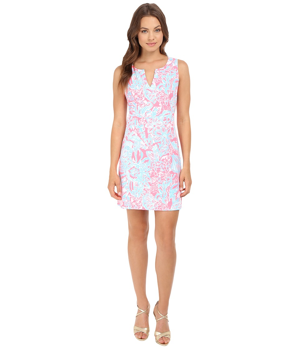 Lilly Pulitzer - Estrada Shift Dress (Pink Sun Ray Summer Siren) Women's Dress
