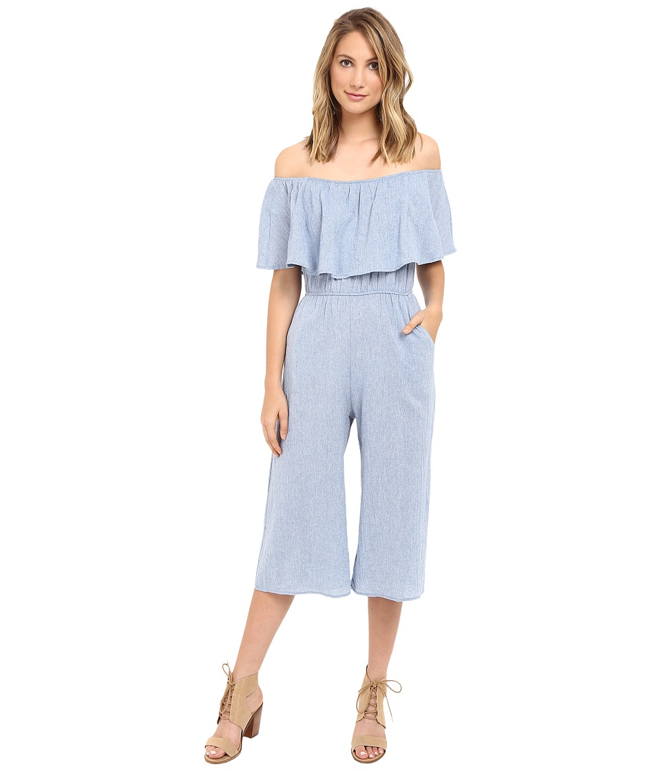 Brigitte Bailey - Cheyenne Ruffle Top Jumper (Blue) Women's Clothing