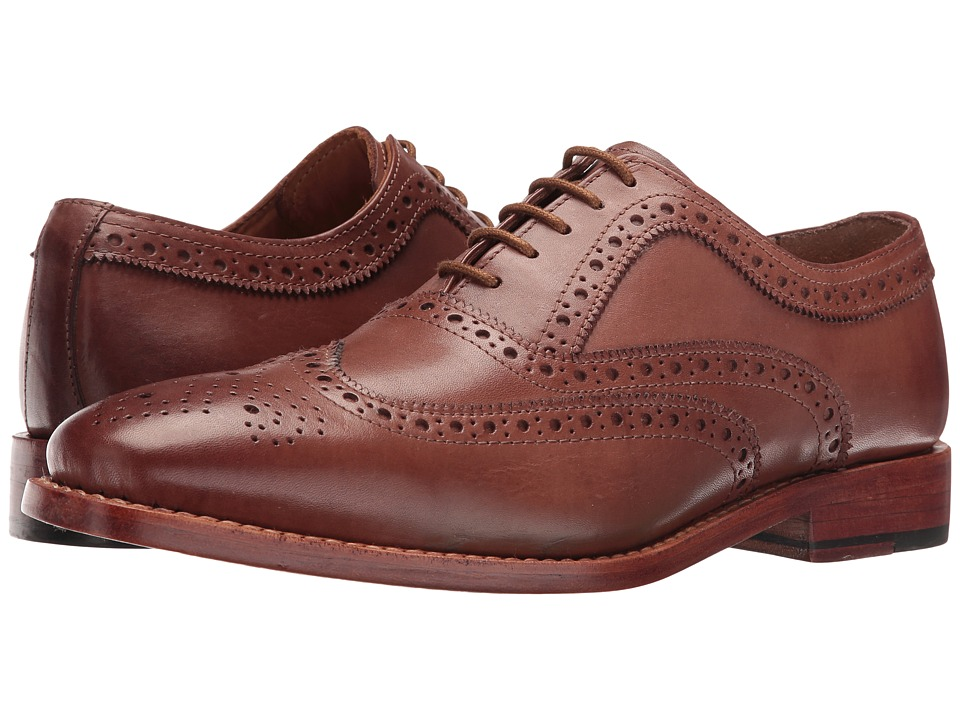 Lotus - Harry (Brown Leather) Men's Lace Up Wing Tip Shoes