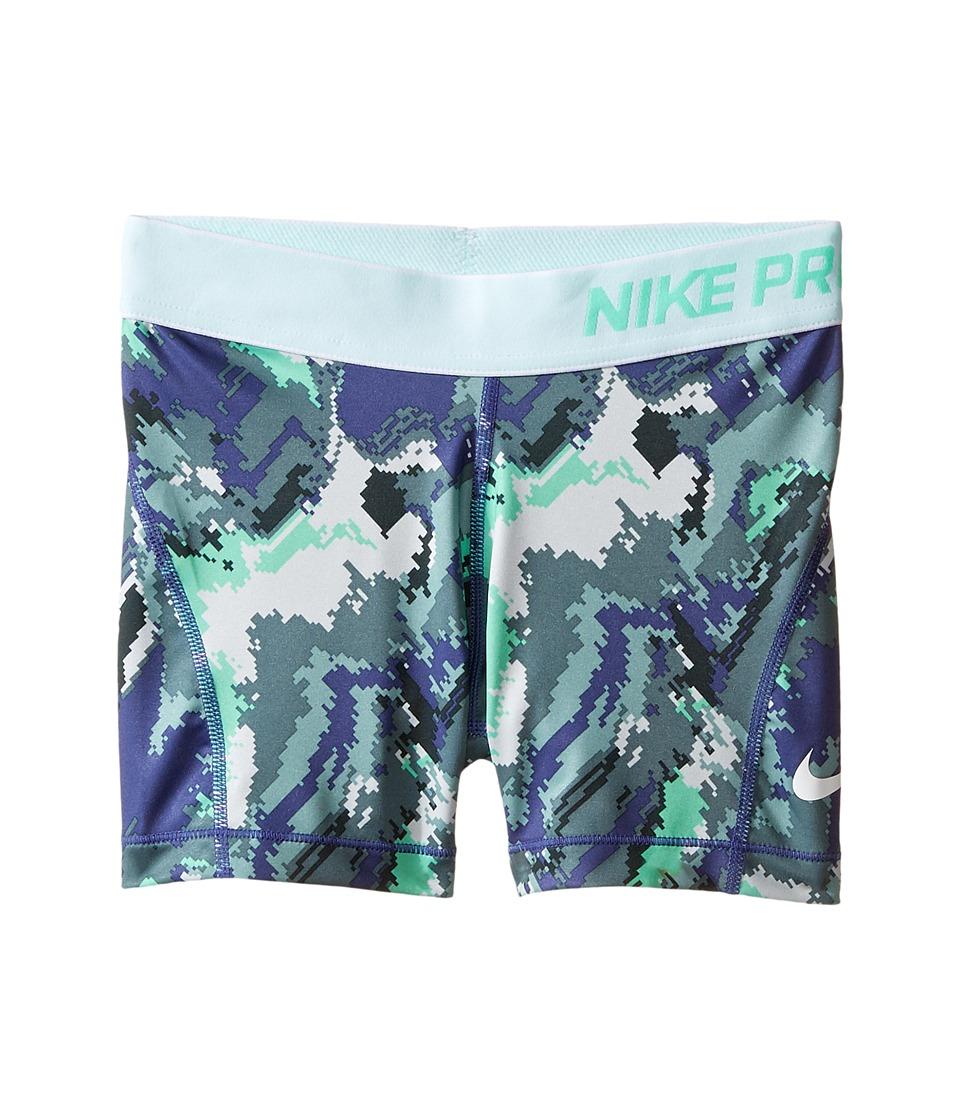 Nike Kids - Pro Cool Boyshort AOP3 (Little Kids/Big Kids) (Hasta/White/White) Girl's Workout
