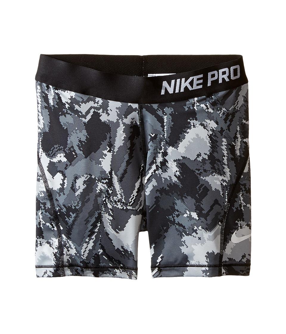 Nike Kids - Pro Cool Boyshort AOP3 (Little Kids/Big Kids) (Black/Black/White) Girl's Workout