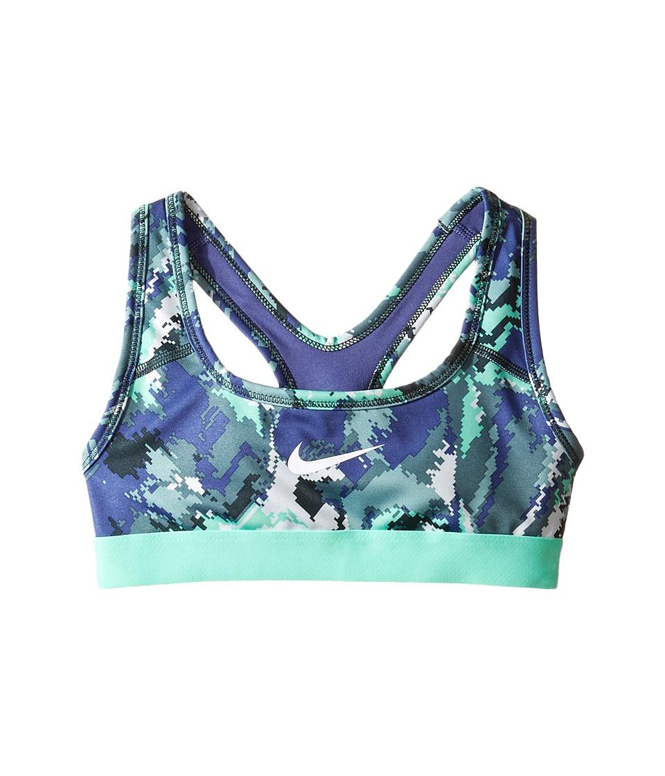 Nike Kids - Pro Medium Support Sports Bra (Little Kids/Big Kids) (Hasta/Dark Purple Dust/Green Glow/White) Girl's Bra