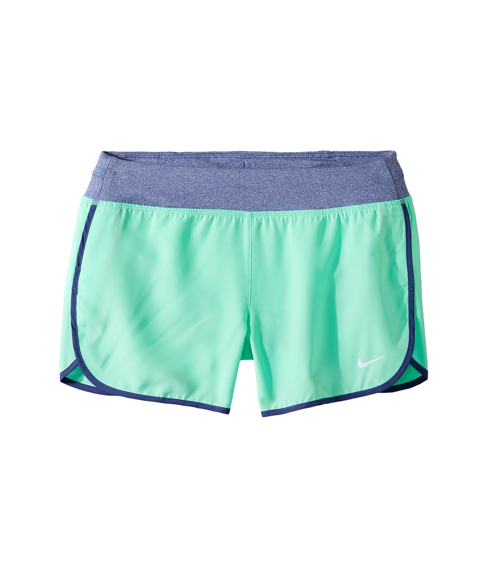 Nike Kids - Dry 3 Running Short (Little Kids/Big Kids) (Green Glow/Reflective Silver) Girl's Shorts