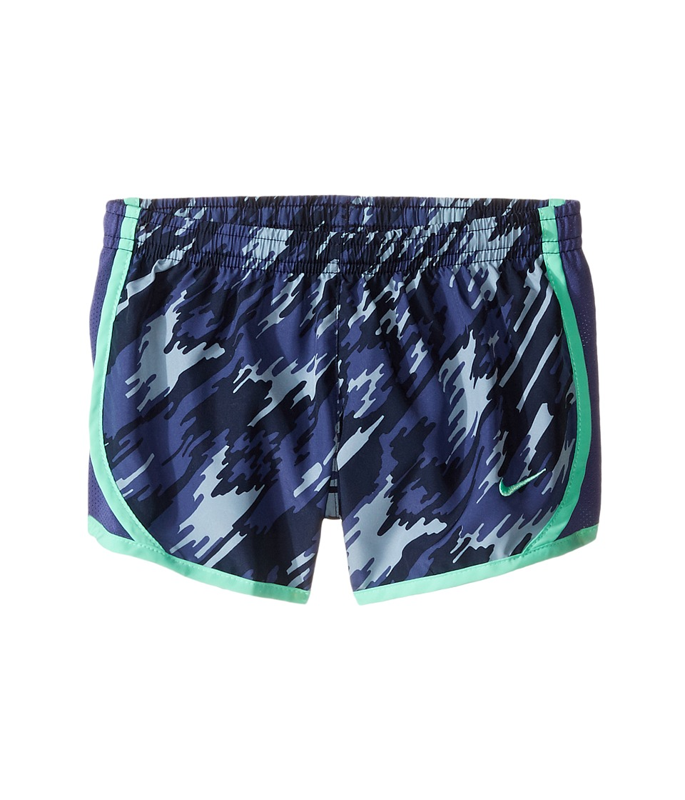 Nike Kids - Dry Tempo Running Short AOP2 (Little Kid/Big Kid) (Dark Purple Dust/Dark Purple Dust/Green Glow) Girl's Shorts