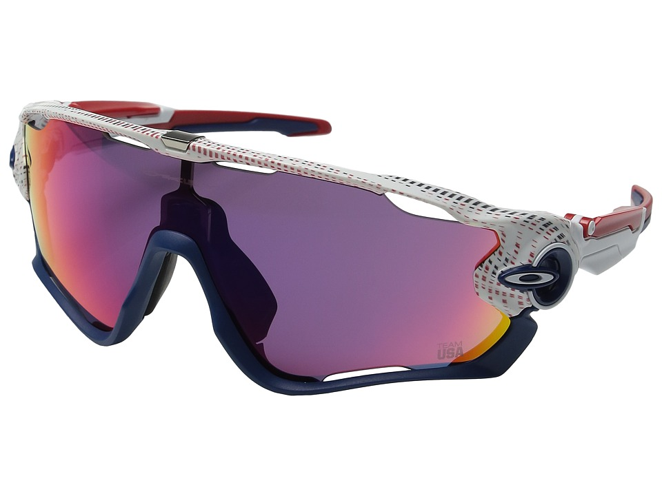 Oakley - Team USA Jawbreaker (White w/ Prizm Road) Fashion Sunglasses