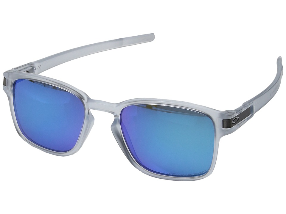 Oakley - Latch Squared (Matte Clear w/ Sapphire Iridium Polished) Fashion Sunglasses