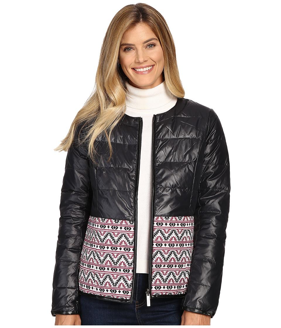 Hatley - Down Fill Reversible Jacket (Black) Women's Coat