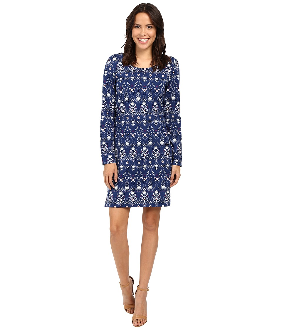 Hatley Knit Zip Back Dress (Floral Thistle) Women