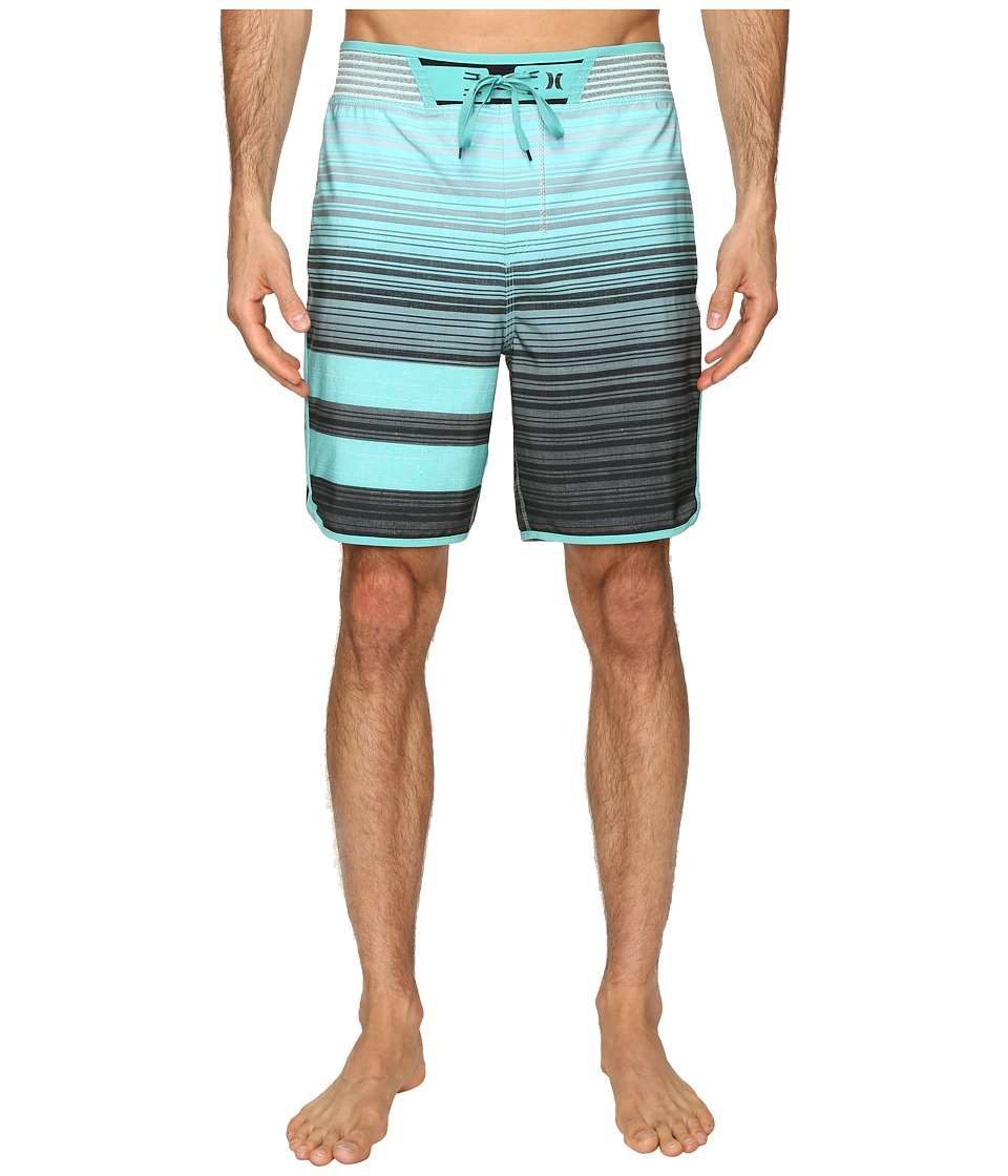 Hurley - Phantom Hyperweave Block Party Code 18 Boardshorts (Washed Teal) Men's Swimwear