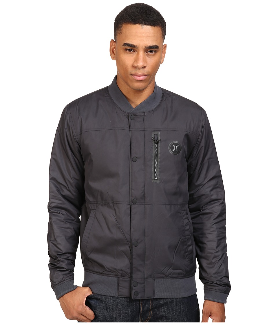 Hurley - All City Stealth Bomber Jacket (Black) Men's Coat