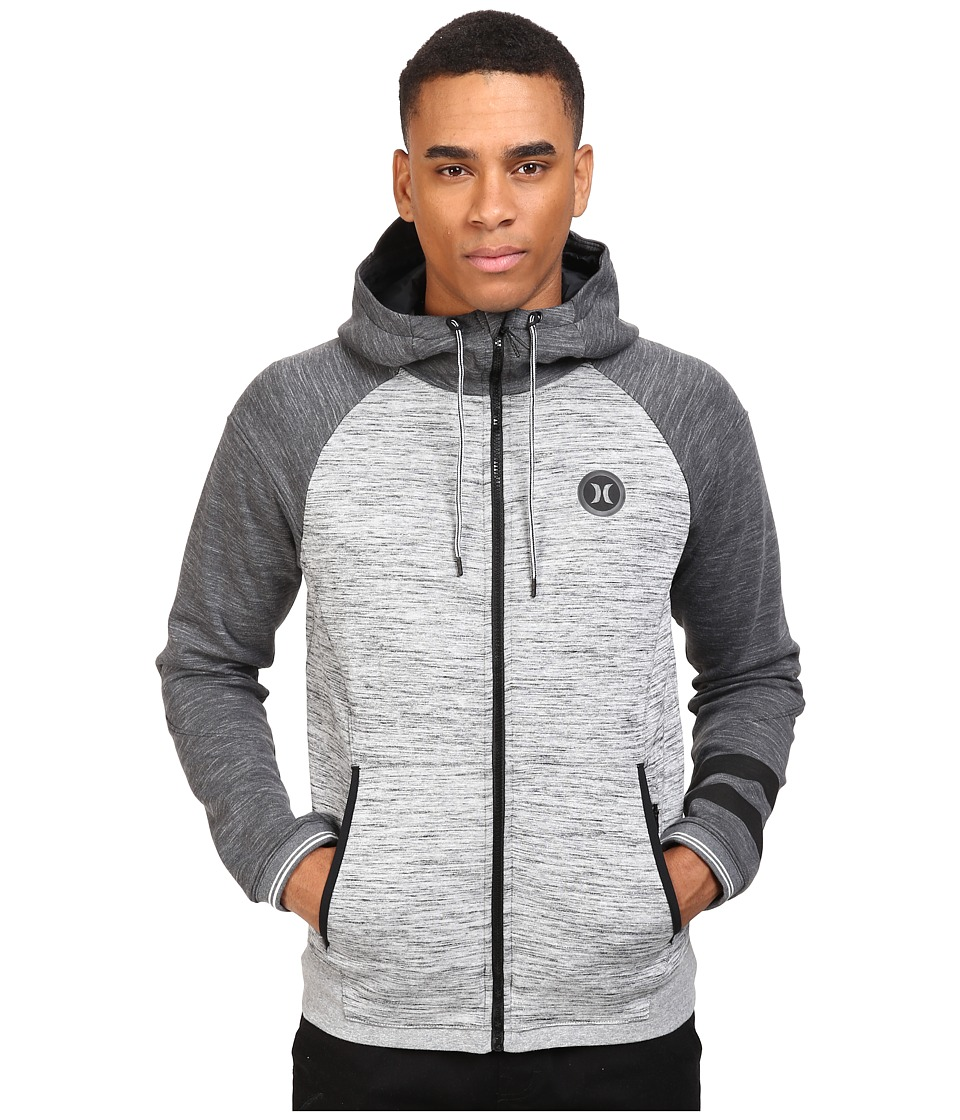 Hurley - Phantom Motion Zip Tech Jacket (Dark Grey Heather) Men's Coat