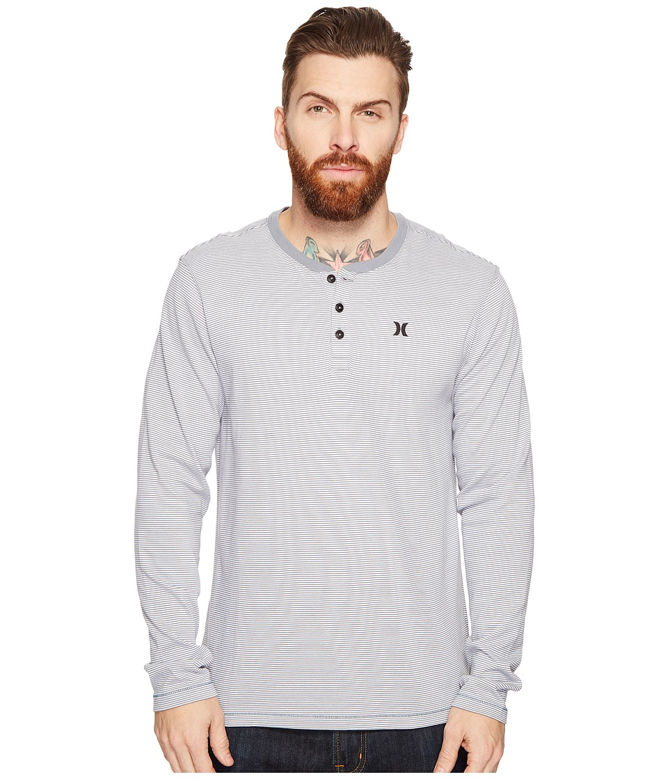 Hurley Lookout Dri-Fit Long Sleeve Henley (Cool Grey) Men