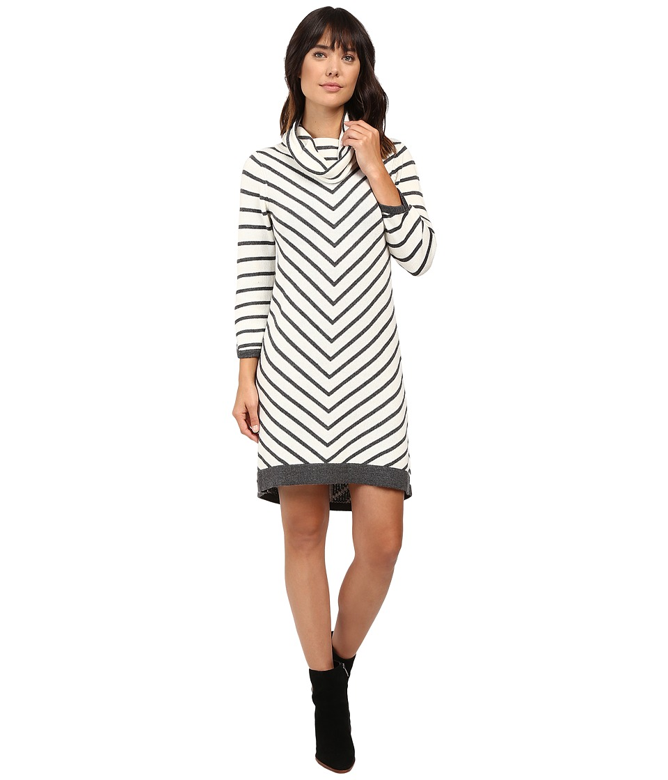 Hatley Cowel Neck Sweater Dress (Chevron Stripe) Women