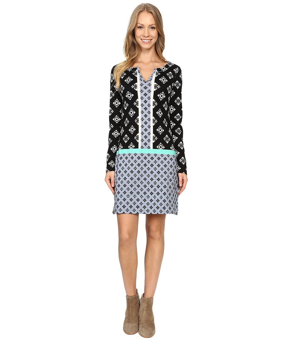 Hatley - Long Sleeve Notch Neck Dress (Aztec) Women's Dress
