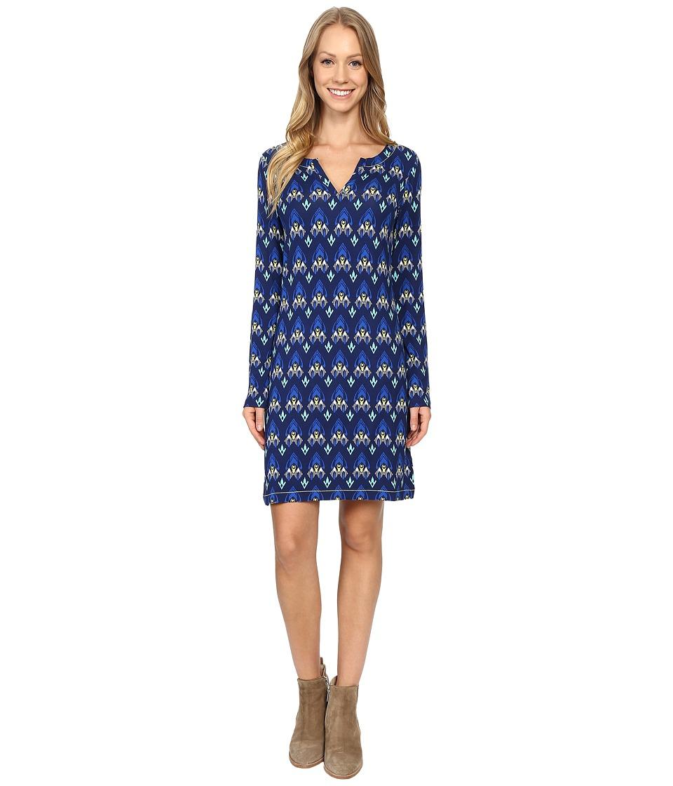Hatley - Long Sleeve Notch Neck Dress (Mini Arrows) Women's Dress