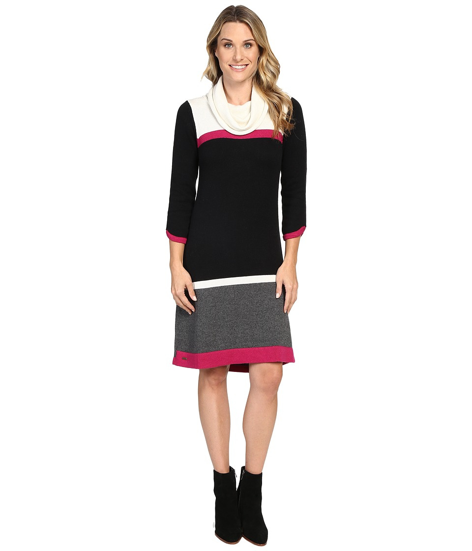 Hatley Cowel Neck Sweater Dress (Color Block) Women
