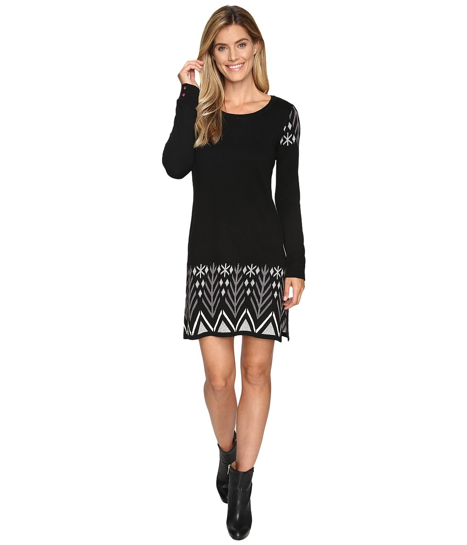 Hatley - Sweater Dress (Black Alpine) Women's Dress