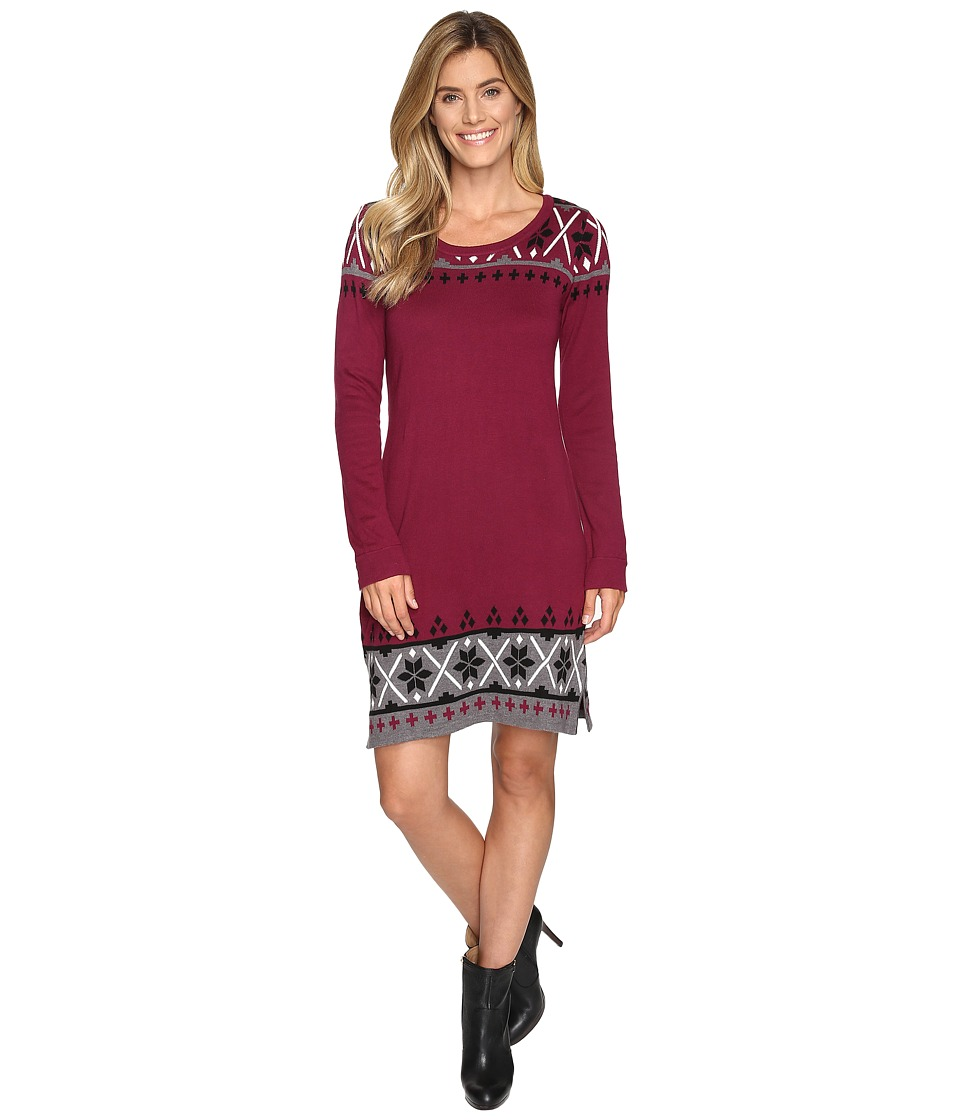 Hatley - Sweater Dress (Burgundy Nordic) Women's Dress