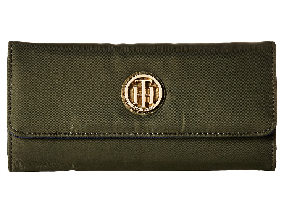 Tommy Hilfiger - Lucky Charm - Large Flap Wallet - Nylon (Olive) Wallet Handbags