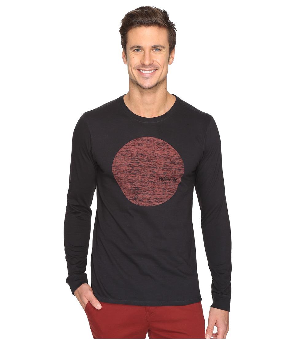 Hurley - Circular Long Sleeve Tee (Black) Men's T Shirt
