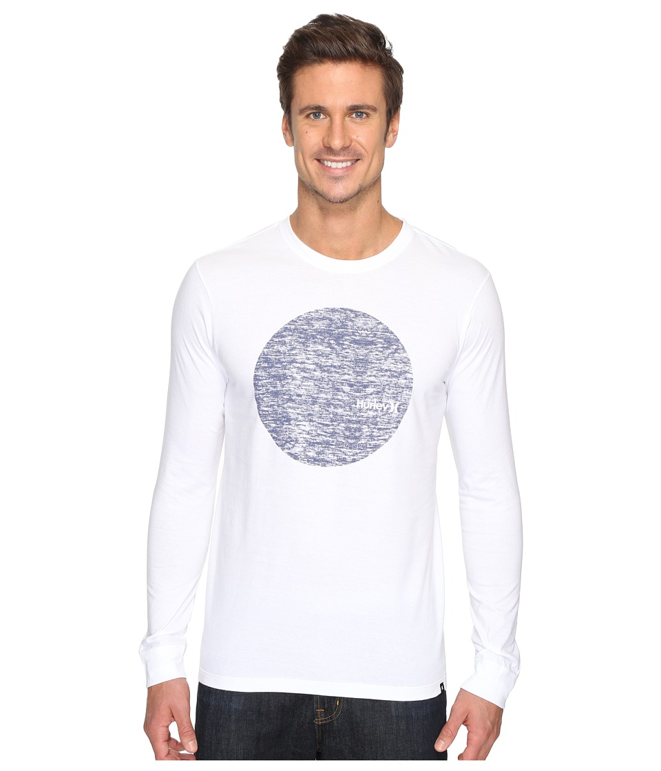 Hurley - Circular Long Sleeve Tee (White) Men's T Shirt