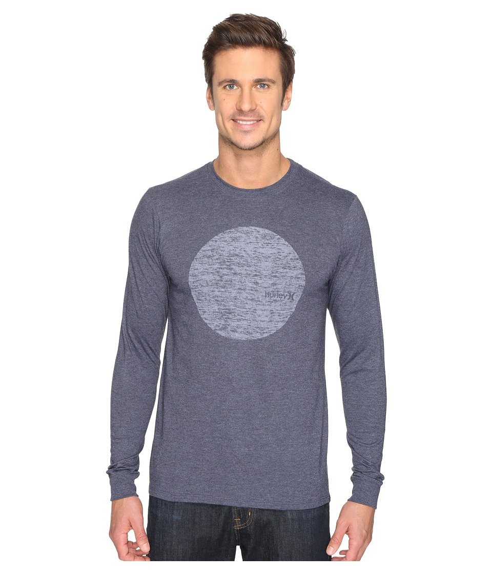 Hurley Circular Long Sleeve Tee (Heather Obsidian) Men