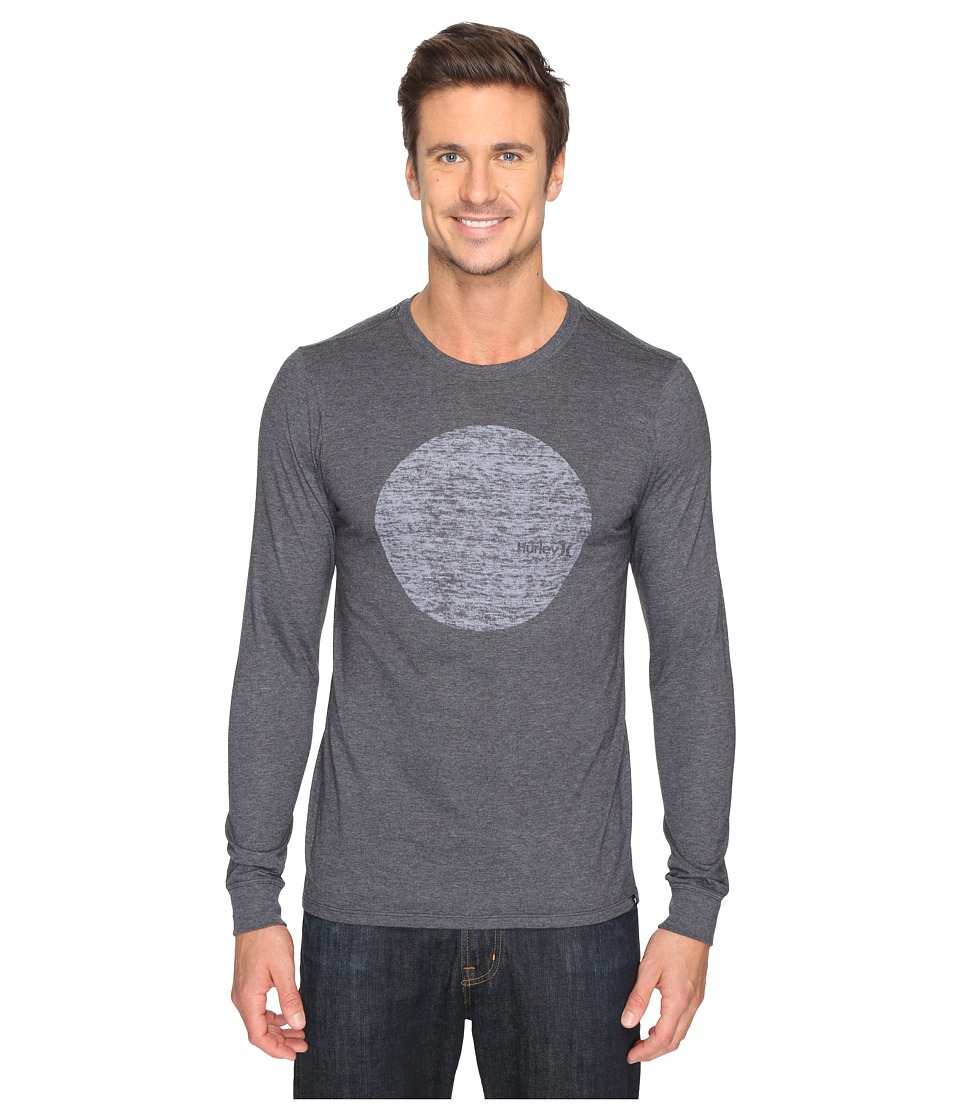 Hurley - Circular Long Sleeve Tee (Heather Black) Men's T Shirt