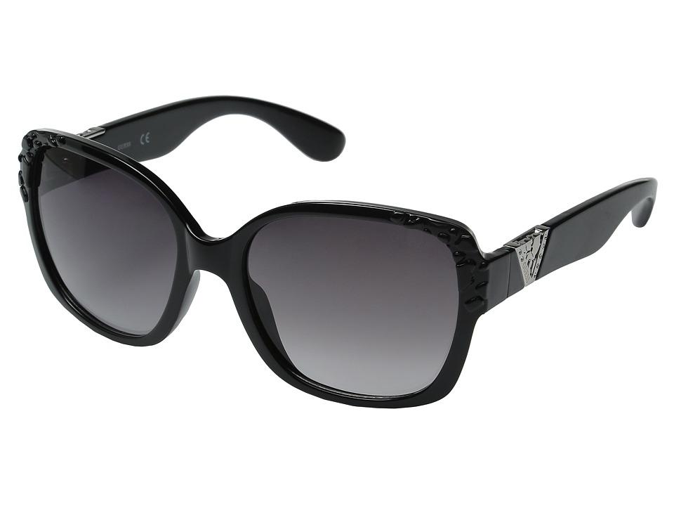 GUESS - GF0298 (Black/Smoke Gradient Lens) Fashion Sunglasses