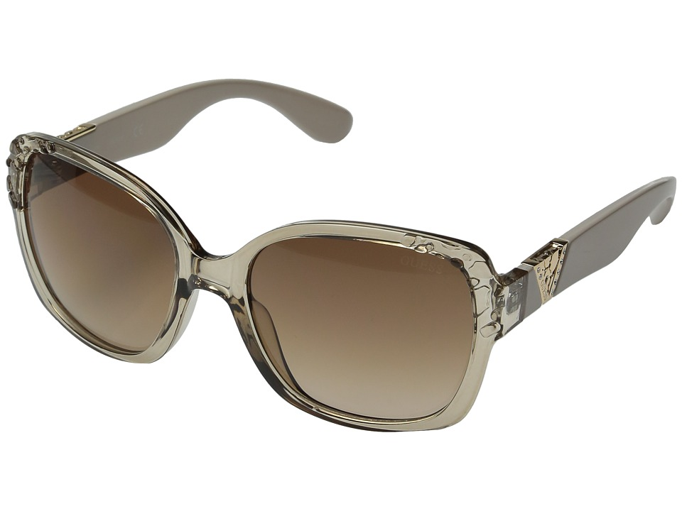 GUESS - GF0298 (Crystal Beige/Brown Gradient Lens) Fashion Sunglasses