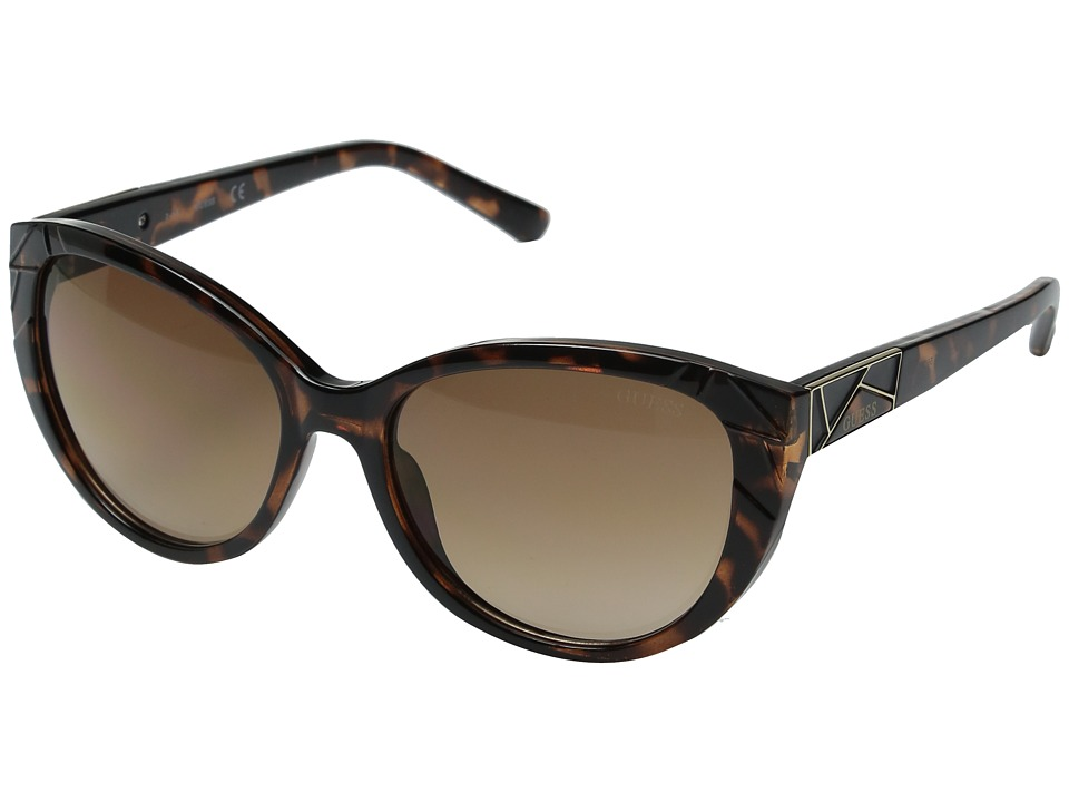 GUESS - GF0297 (Dark Havana/Brown Gradient Lens) Fashion Sunglasses